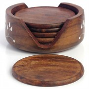 Coasters Indian wooden x6