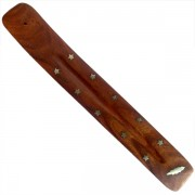Incense stick wooden stand Plum