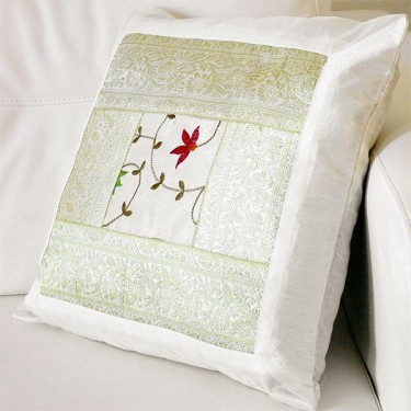 Cushion cover Satin white L40
