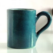 Indian blue ceramic mug