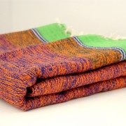 Indian carpet green and orange Khaadi Dari