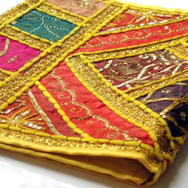 Patchwork tapis jaune d co indienne pour la maison par for Decoration murale indienne
