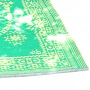 Carpet for picnic Indian Chatai green and yellow