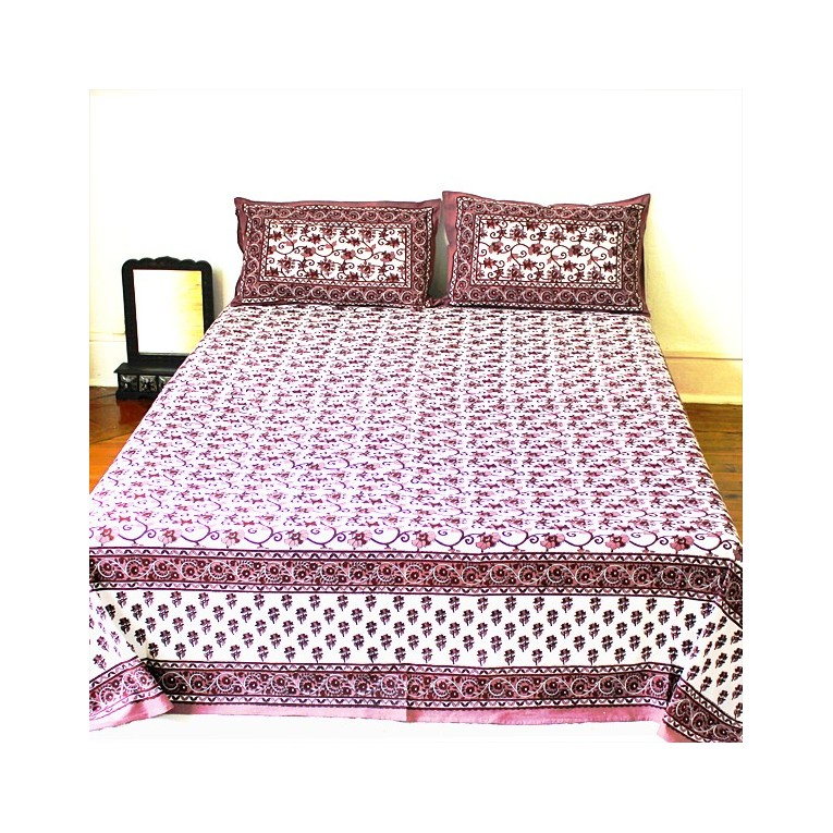 couvre lit indien en tissu violet propos par pankaj boutique. Black Bedroom Furniture Sets. Home Design Ideas