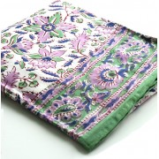 Indian round table cover purple