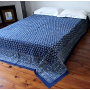 Indian bedcover navy blue