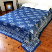 Indian bedsheet elephant blue