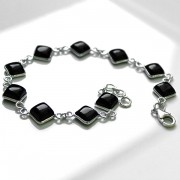 Indian bracelet Silver and Onyx