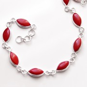 Indian bracelet Silver and Coral