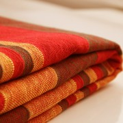 Indian sofa or bed cover red