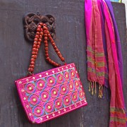 Indian ethnic handbag Andaz pink