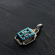 Silver and turquoises Nepal pendant