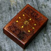 Indian wooden jewellery box L17