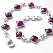 Indian bracelet Silver and Amethyst