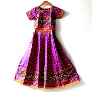 Indian purple Lehenga set for children