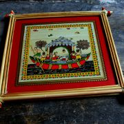 Handicraft Indian palm tree frame Ship