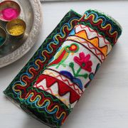 Indian handicraft table runner Parrot