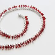 Anklet Indian fancy jewelry chain red