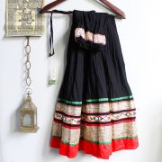 Indian skirt Benjara black and red