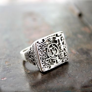 Indian silver ring for man S8