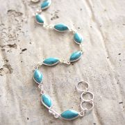 Indian silver and turquoise stones bracelet
