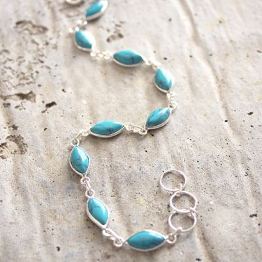 Indian bracelet Silver and Turquoise