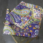 Indian handicraft bed cover Kantha colorful