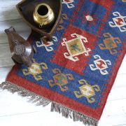 Indian carpet woolen and jute brown Dari