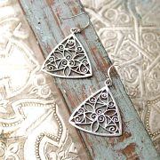 Indian plain silver earrings