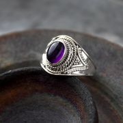 Indian silver ring and amethyst size choice