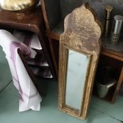 Indian antique wooden mirror Aaina