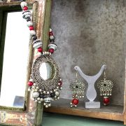Indian metal traditional jewelry set