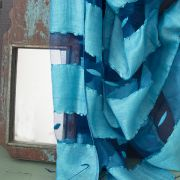 Indian veil scarf plain light blue