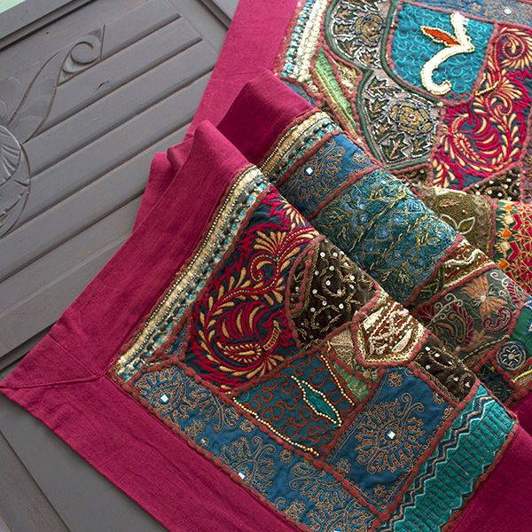 tissu mural indien patchwork d co maison indienne par pankaj boutique. Black Bedroom Furniture Sets. Home Design Ideas