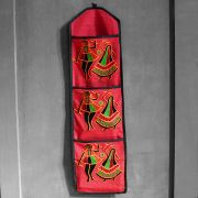 Indian letter holder cotton 3 pockets danse