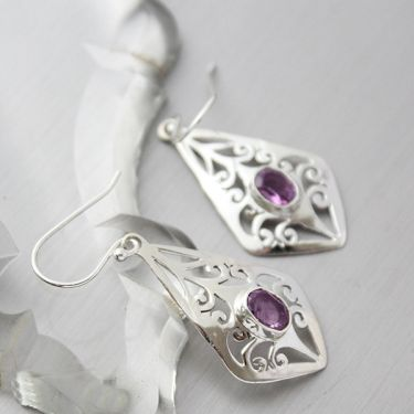 products stone worn earrings hoop and gratitude goldtone with graces amethyst earring