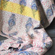 Indian handicraft bed cover Kantha grey