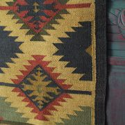 Indian carpet jute and wool yellow and brown Dari