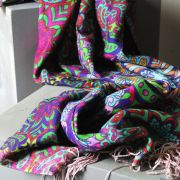 Indian scarf printed digital silk