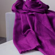 Indian cashmere woolen scarf handloom purple