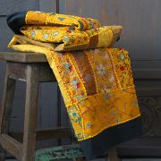 Indian wall hanging patchwork yellow