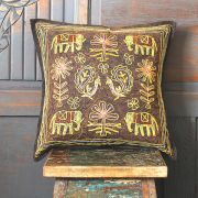 Indian cushion cover stonewash maroon L40