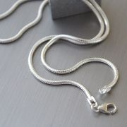 Indian silver plain chain long L46