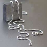 Indian silver plain chain with beads