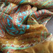 Indian silk scarf square brown