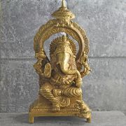 Indian hindu god Ganesh brass statue