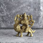Indian hindu goddess Durga brass statue