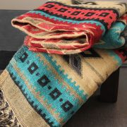 Tibetan woolen scarf colorful