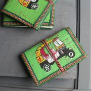 Indian handicraft 100% coton dairy Taxi green