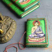 Indian handicraft 100% coton dairy Buddha green
